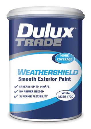 New exterior paint with extra spread specifile - Dulux weathershield exterior paint minimalist ...