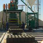 Pan Mixers concrete manufacturing plant for Odebrecht Luanda
