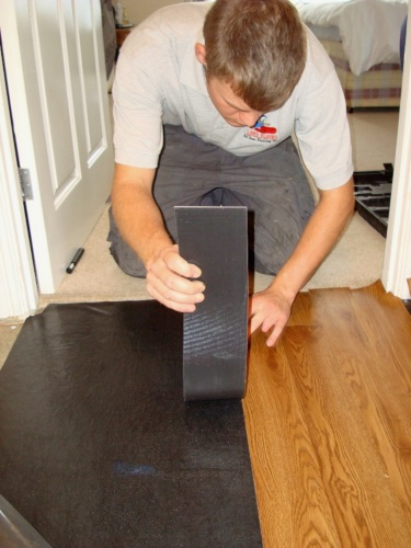 Easy Installation With Peel And Stick Underlay