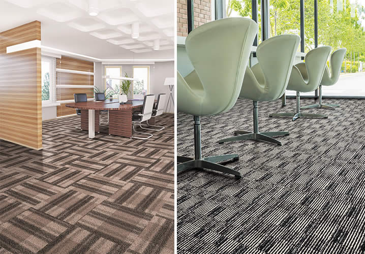 New carpet tiles reflect trends
