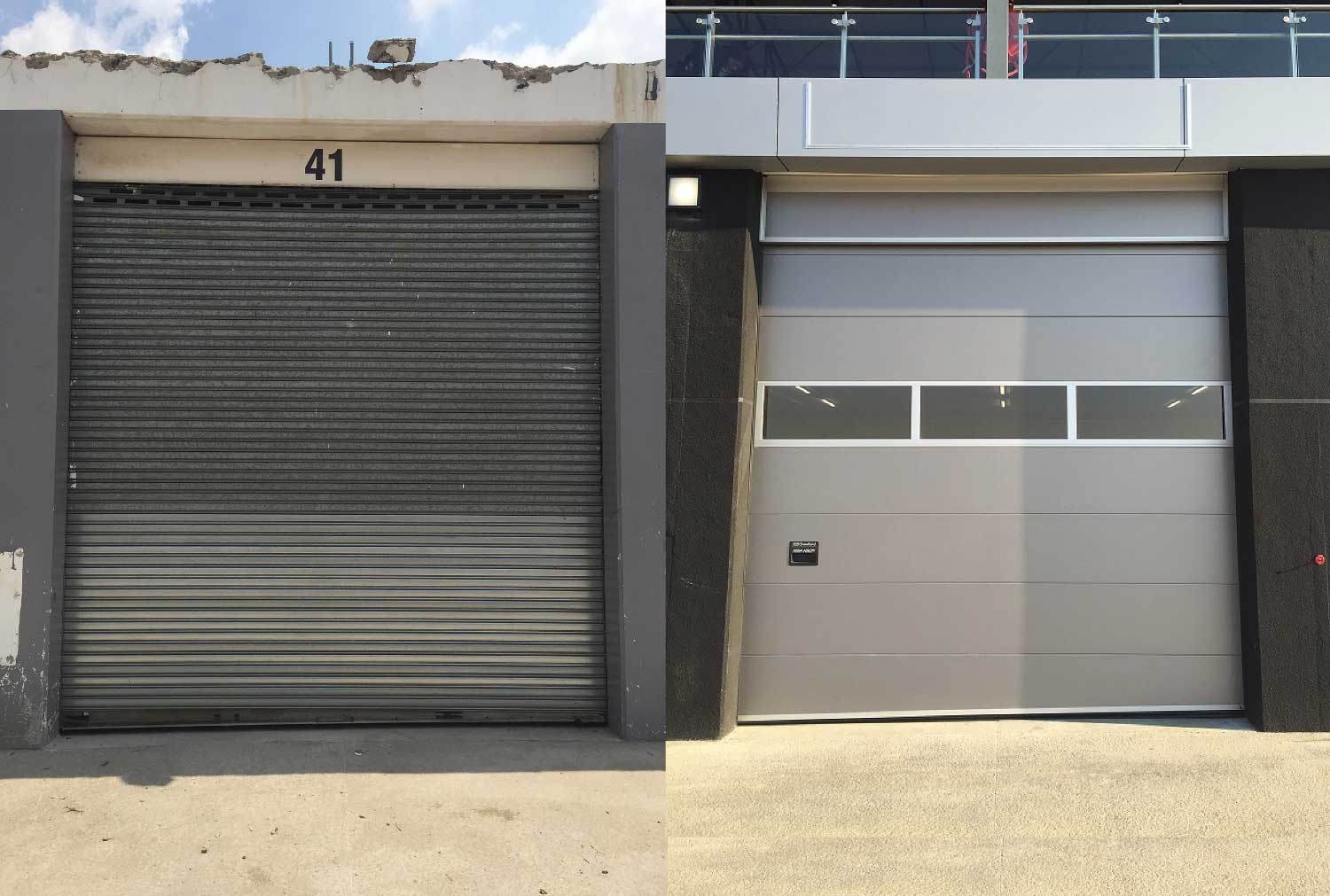 Crawford Sectional Doors Replace Old Roller Shutter Doors