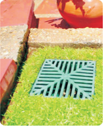 Blending outdoor drainage and paving