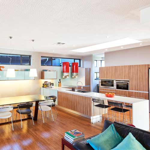 Acoustic ceiling boards gaining popularity in the residential market