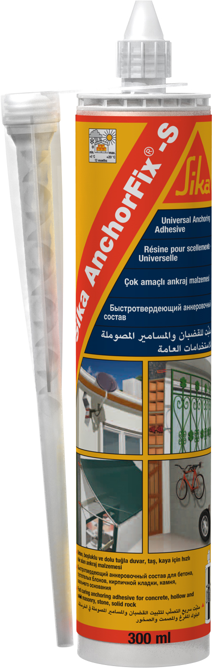 Sika AnchorFix®-S is the ideal solution for applications using hollow blocks