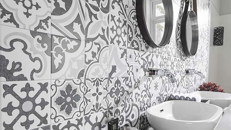 Hand crafted Mediterranean patterned tiles