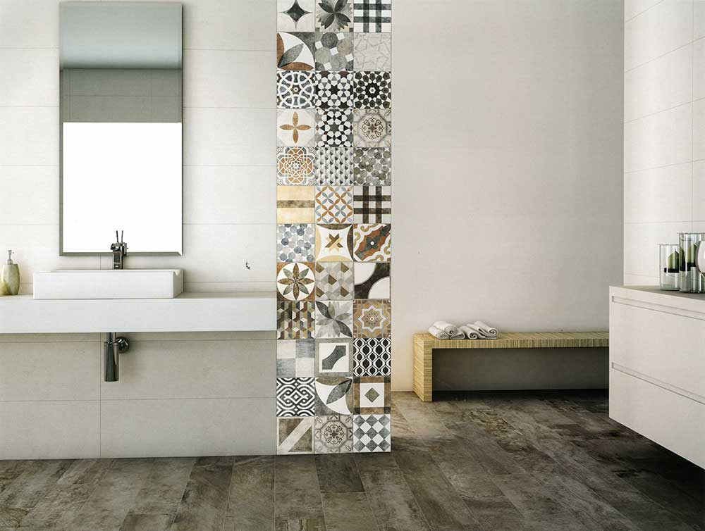 Wood look porcelain tiles from Union Flooring