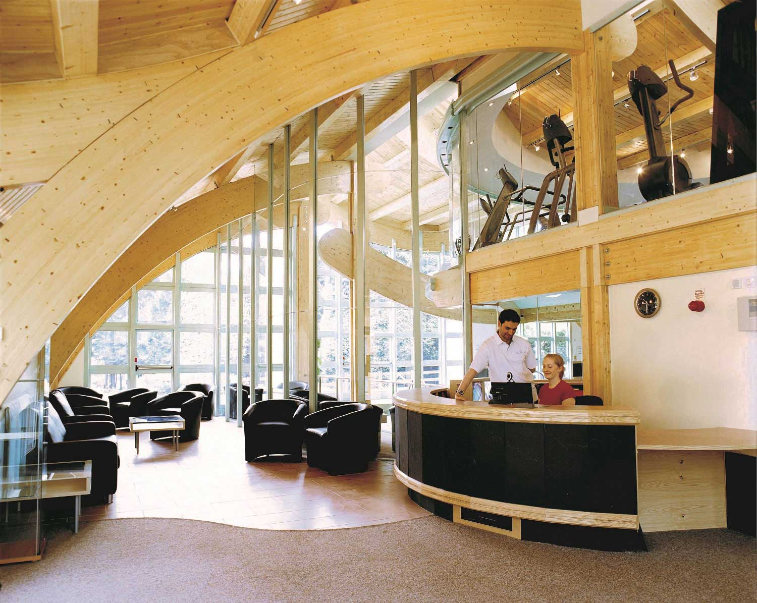 Evolution reception area treated with Vacsol Azure timber preservative