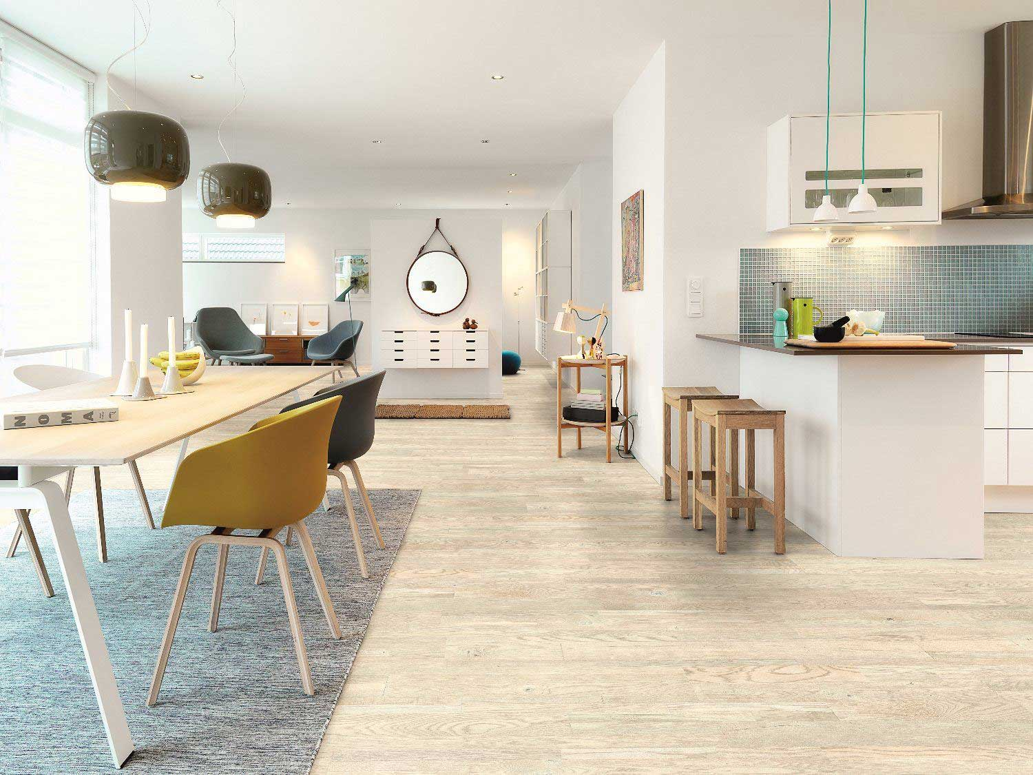 Pergo laminate flooring available from Van Dyck