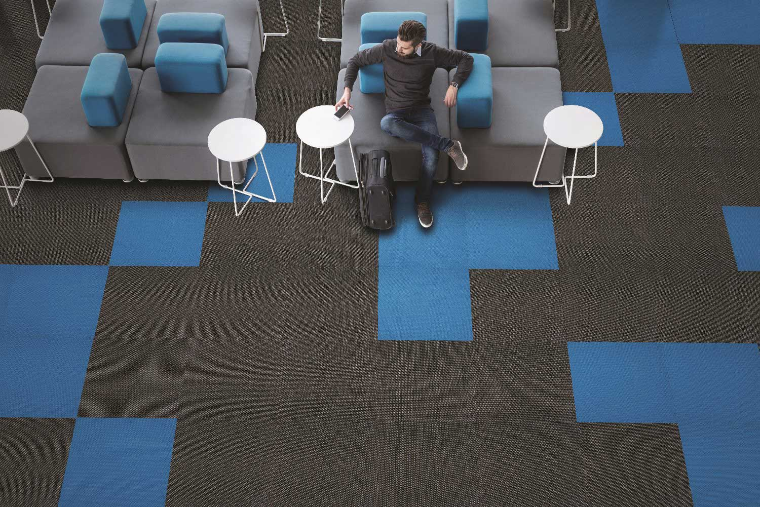 Athena Woven Vinyl floor tiles now available from Van Dyck