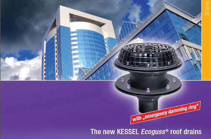 EDT EuroDrain offers KESSEL Ecoguss flat roof drains in SA