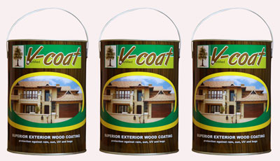 Maintaining wooden products is easy with V-coat