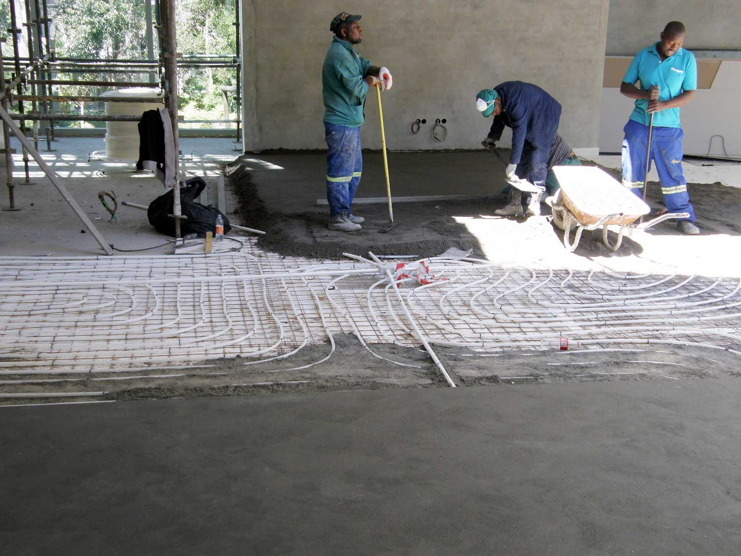 Viega Fonterra Hydronic Floor Heating And Cooling Installed In Automated Home