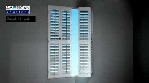 AMERICAN Shutters Hinged (Double hinged)