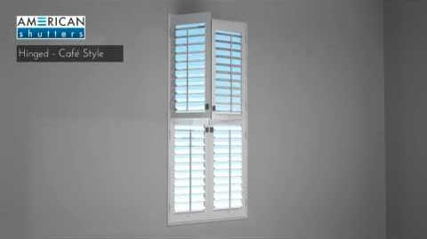 AMERICAN Shutters Hinged (Cafe Style)