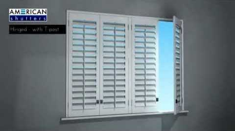 AMERICAN Shutters Hinged with T Post Shutter Application