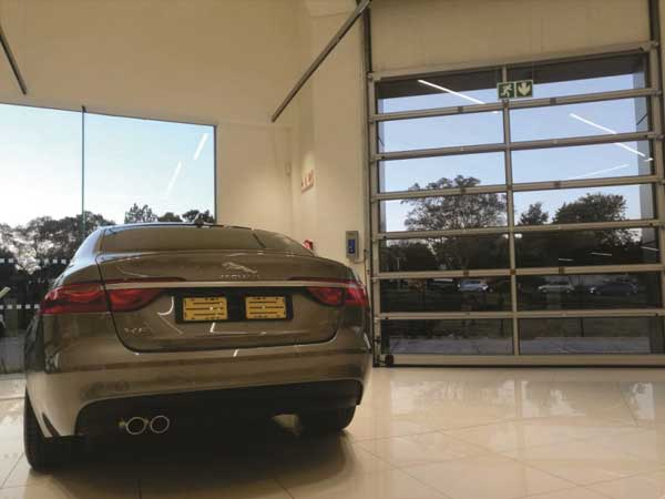 Premium doors for top-end vehicle marque showroom from Maxiflex