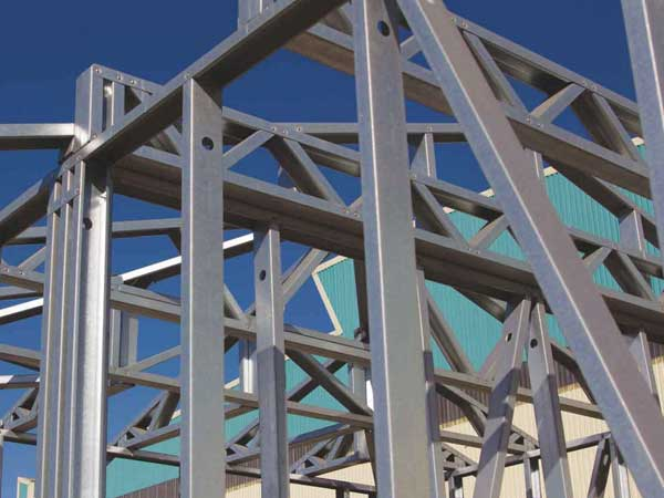 Lightweight steel for trusses, walls, panels and floors