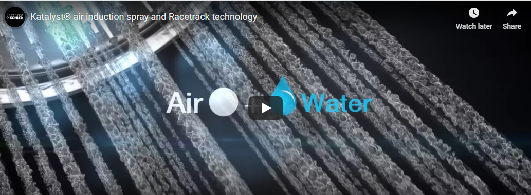 Katalyst® air induction spray and Racetrack technology