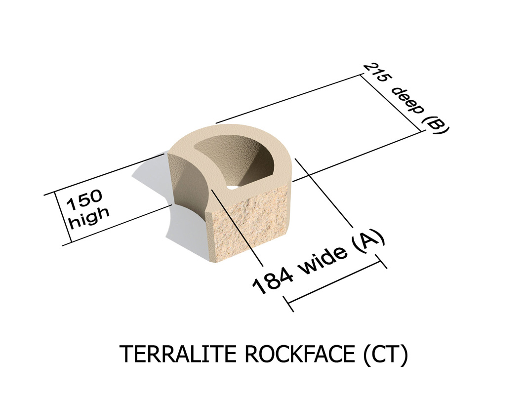 Terralite Standard (Smooth) and Terralite Rock Face