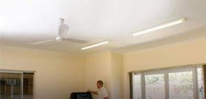Skimmed ceiling