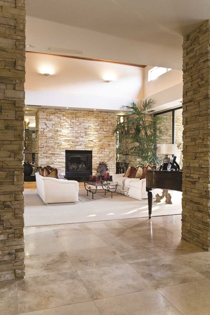 Natural stone tiles and effects are still hugely popular