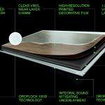 The various layers making up Traviata vinyl flooring planks