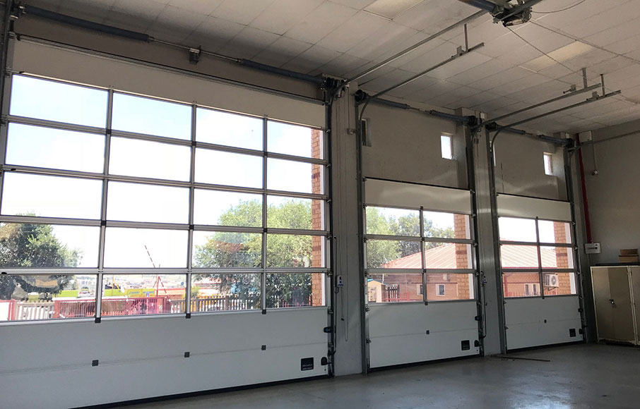 Maxiflex overhead sectional doors product of choice for fire emergency services