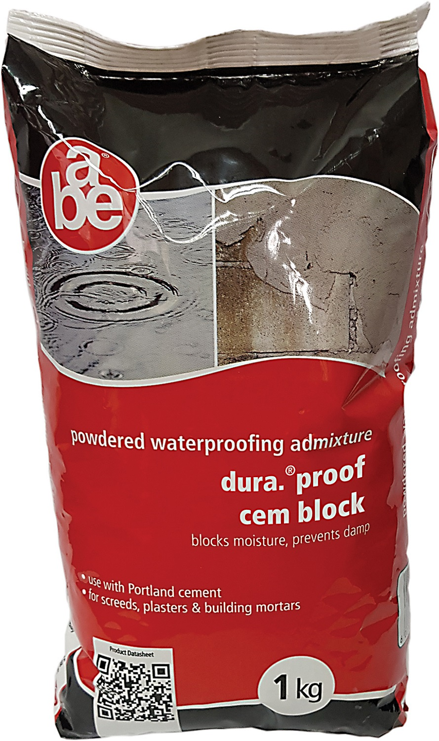 a.b.e. Powdered waterproofer blocks moisture and prevents dampness in plaster and mortar