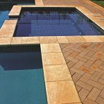 Sandstone copings are ideal for pool surrounds