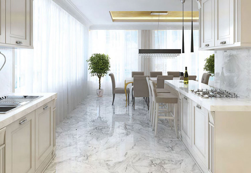 Mont Blanc Marble natural stone flooring