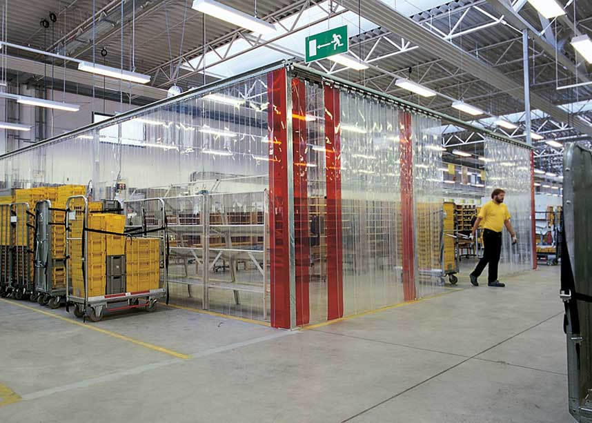 Servicing industrial doors and strip curtains