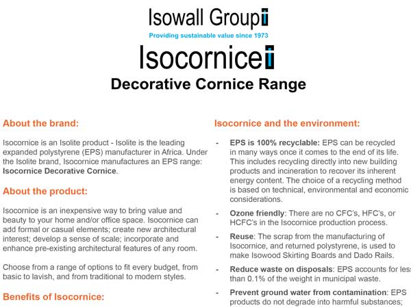 Isowall Group | Insulated Panels | Cornices | Skirting Boards | Dado