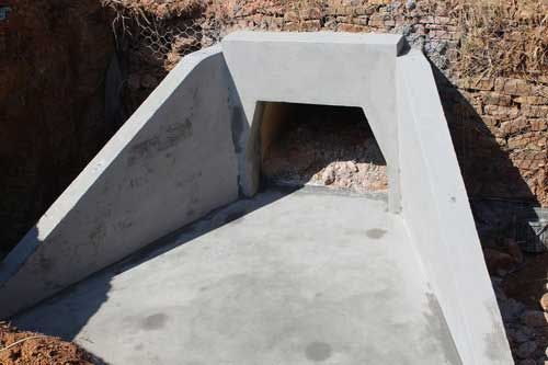 Custom Wingwall for Culvert