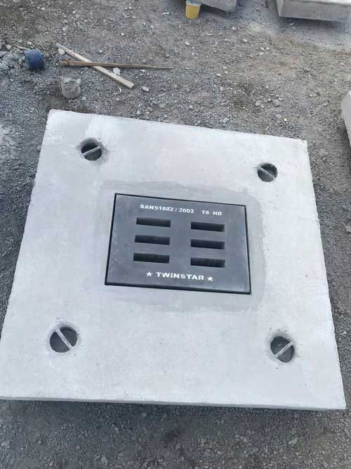 Table 8 Gulley Grid casted into Concrete Slab