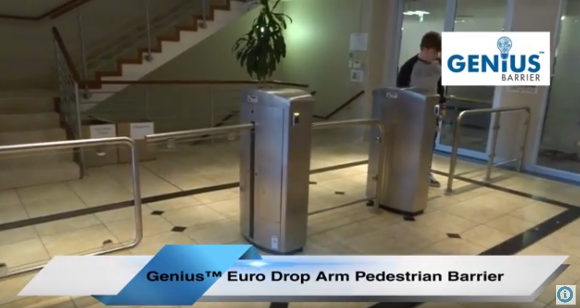 Genius™ Euro Style Pedestrian Barrier | Boomgate Systems