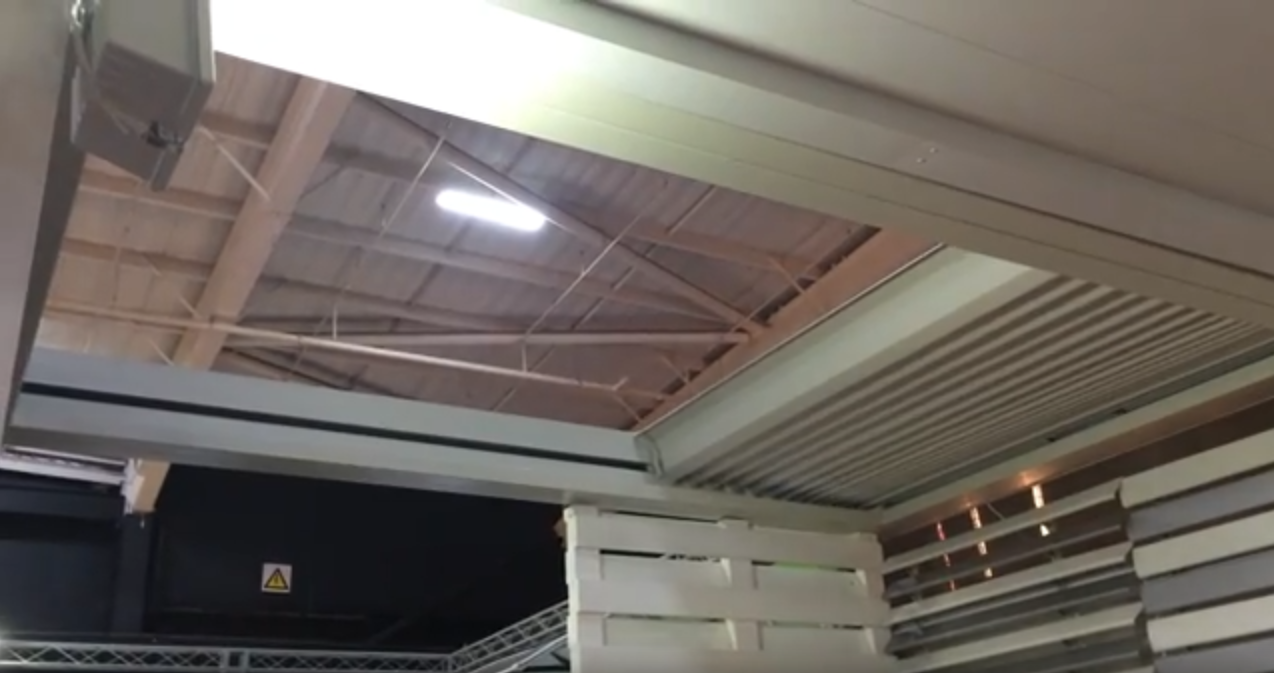 Retractable Aluminum Roof called Skywave by Awning Warehouse