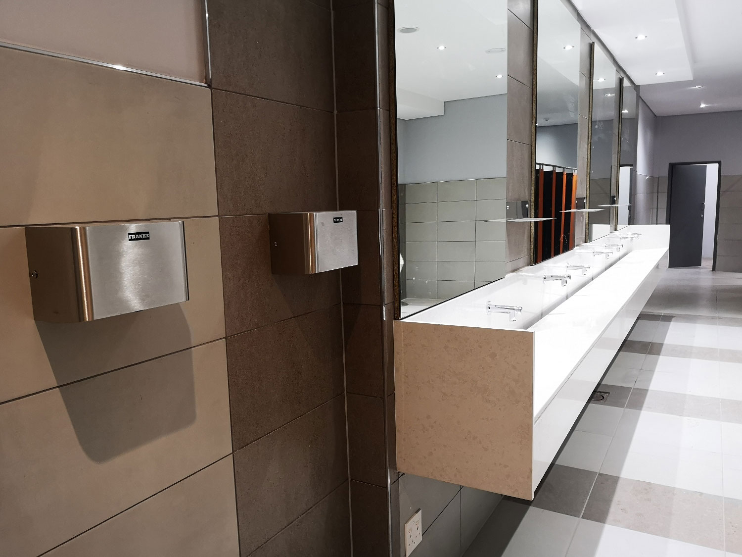 Everything you need to fit out public bathrooms