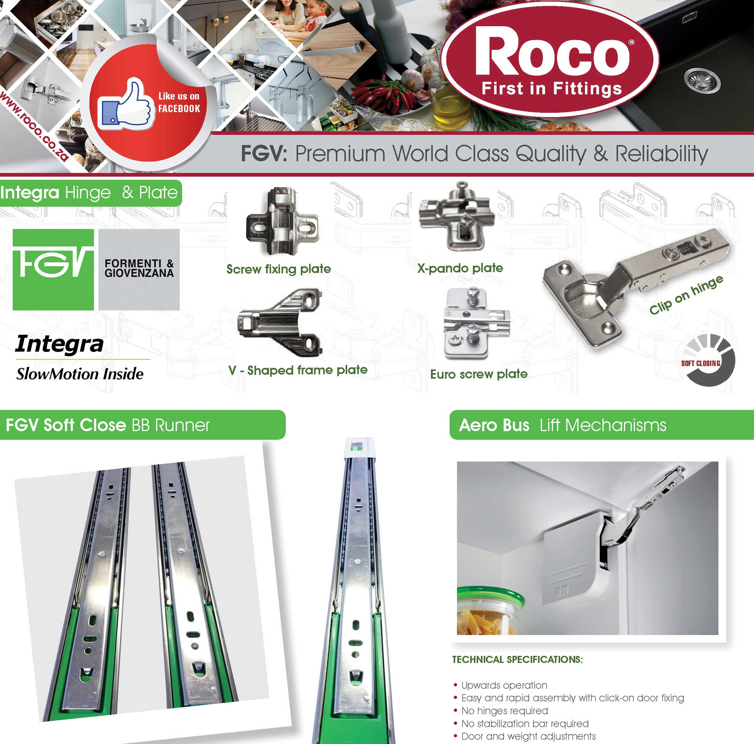 Roco   Fittings for Kitchen and Furniture Industries   Sinks
