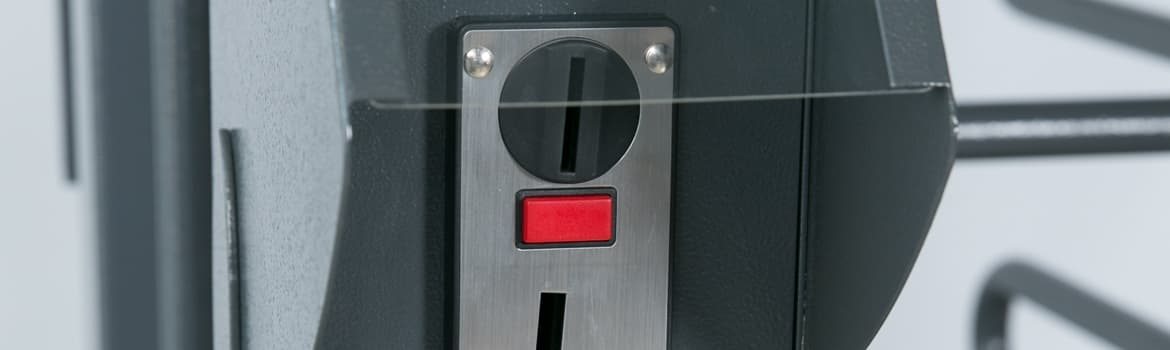 Turnstar coin acceptor for turnstiles generate revenue