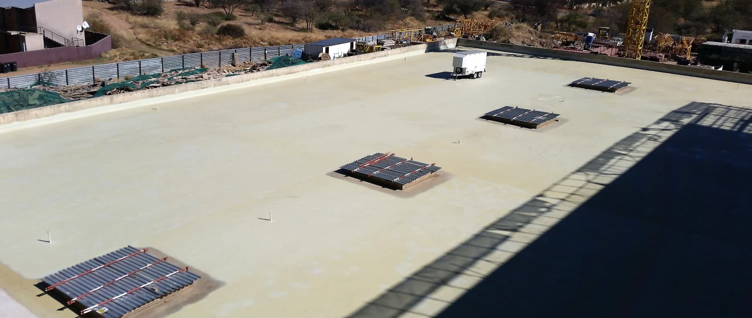 Roof of Namibian Ministry of Home Affairs sealed with VIP QuickSeal PP 350