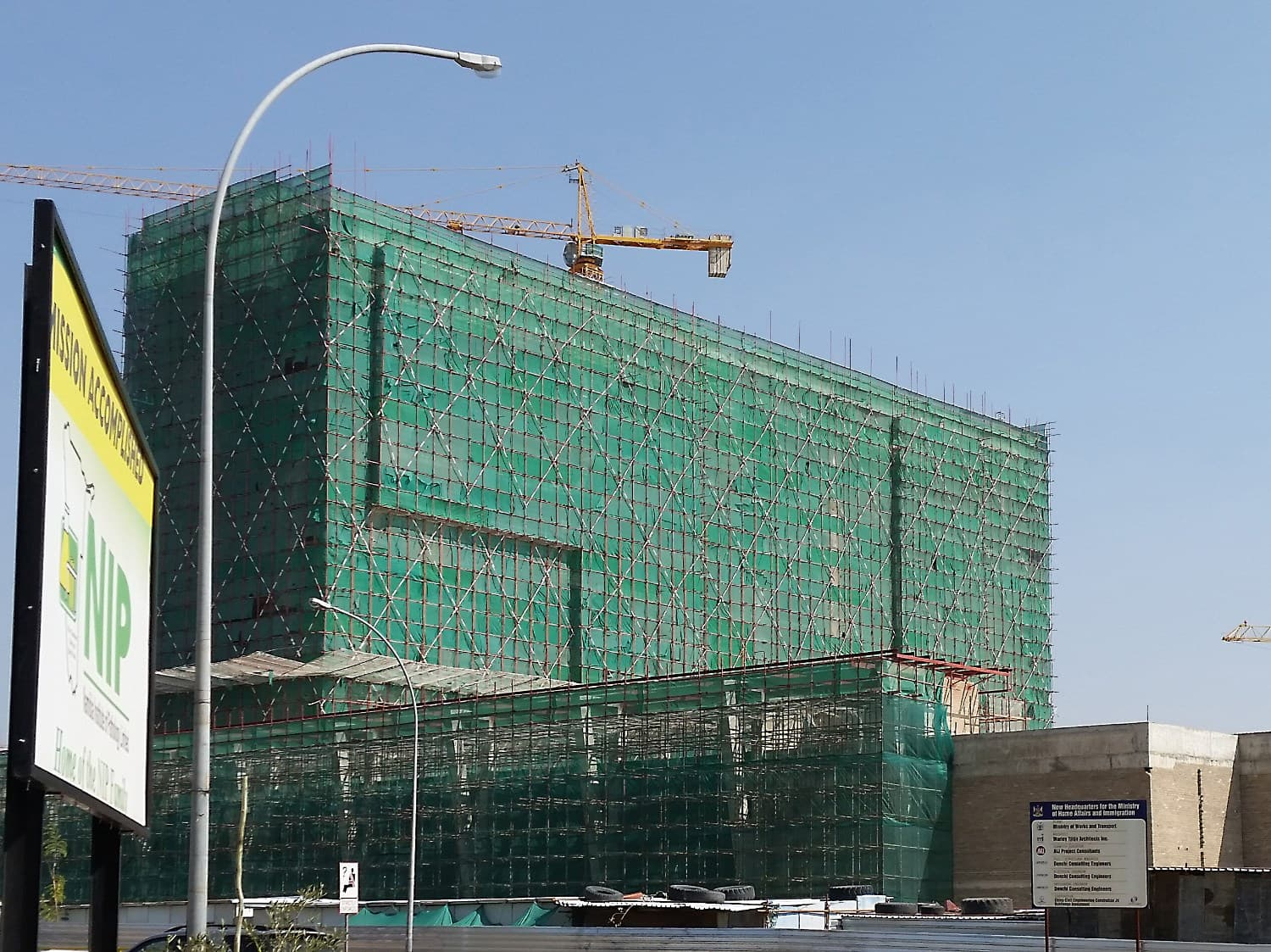 Ministry of Home Affairs in Windhoek waterproofed using abe construction chemicals CIP QuickSeal PP350