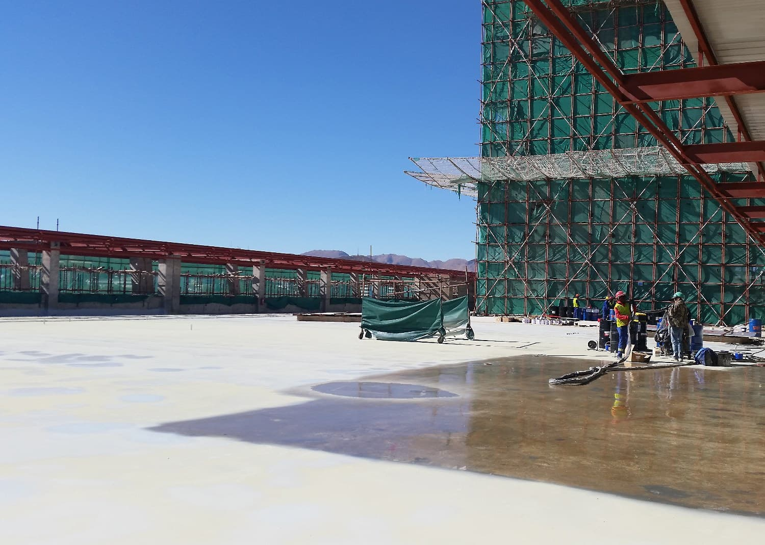 Windhoek Home Affairs building sealed with abe construction chemicals VIP polyurea waterproofing