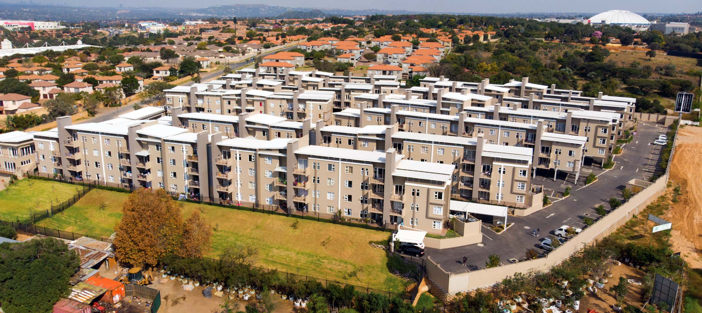 295 apartments with uPVC windows and doors