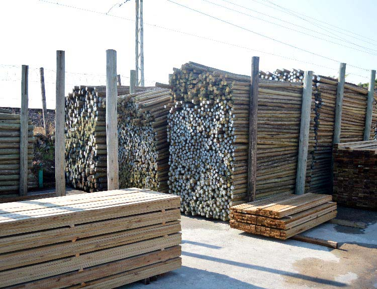 Guidance Note: Wooden piling or foundation poles used for permanent buildings