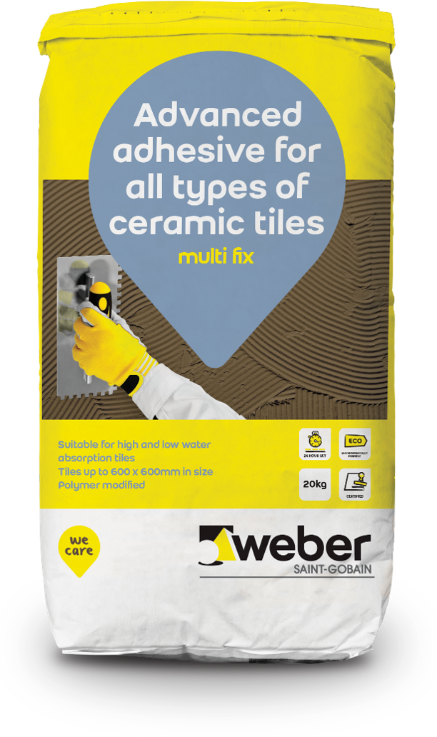Saint-Gobain Weber launches innovative new Multi Fix tile adhesive