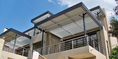 Louvre Awnings - Manual or Motorized