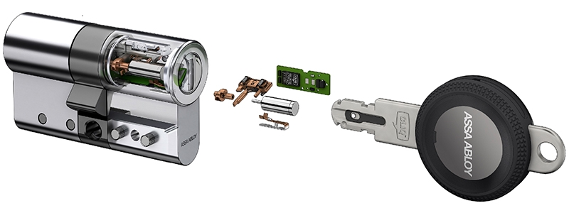 Effortless conversion of existing locks to eCLIQ™ high security electronic control system from ASSA ABLOY