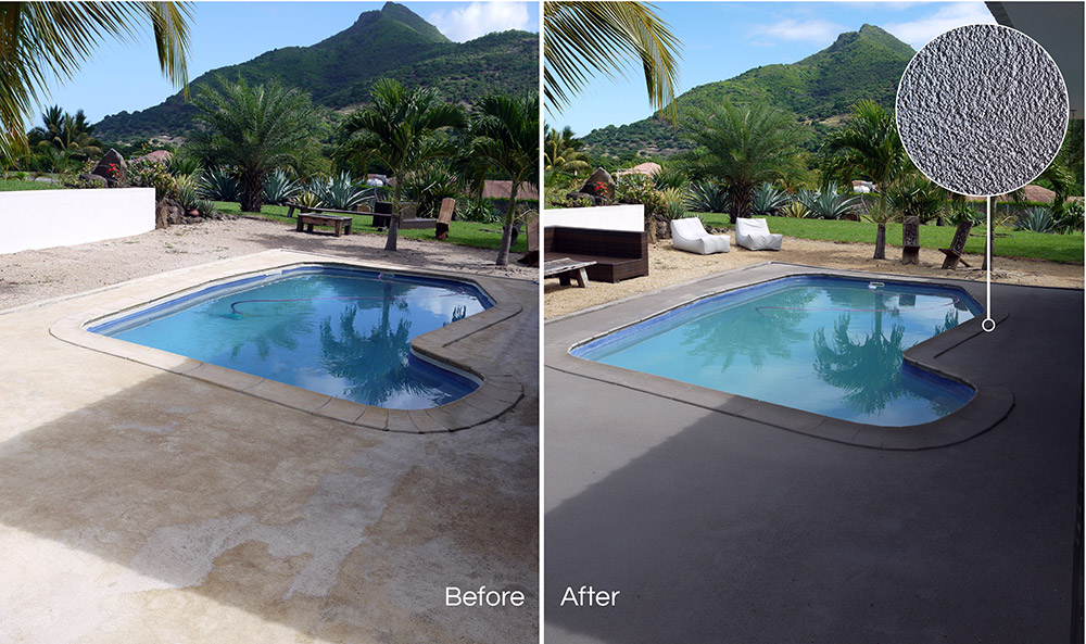 renocrete application before and after