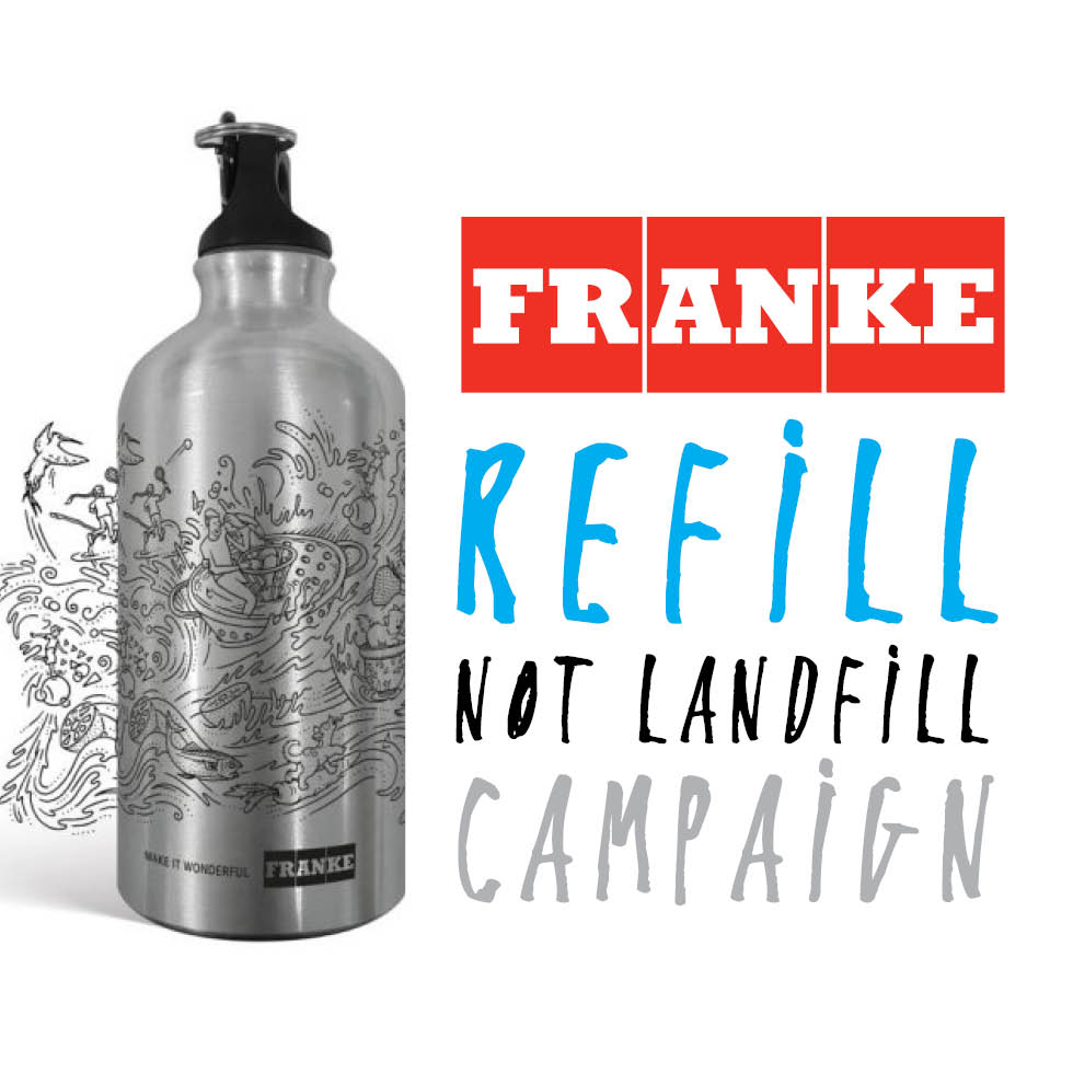 "Franke South Africa launches eco-focused ""Refill not Landfill"" campaign on World Environment Day!"