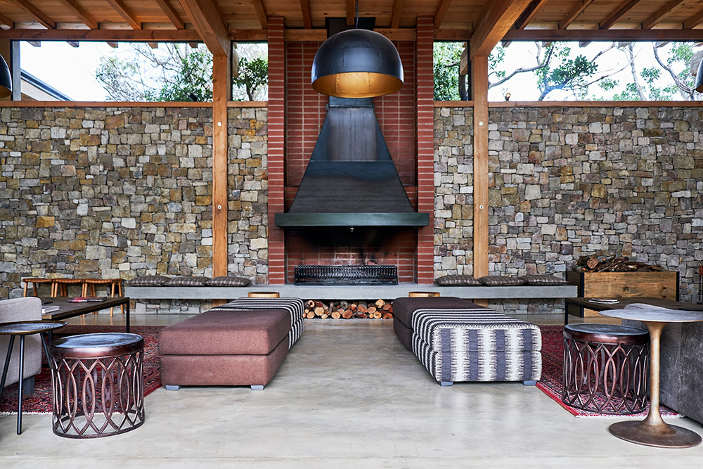 raw beauty fireplace for outdoors